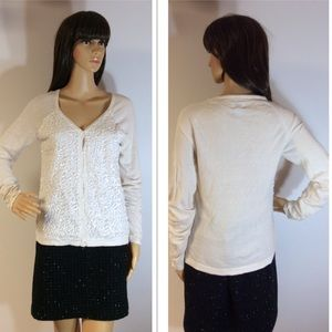 JACLYN SMITH LIGHTWEIGHT SEQUINED CARDIGAN